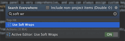Search for settings in PHPStorm