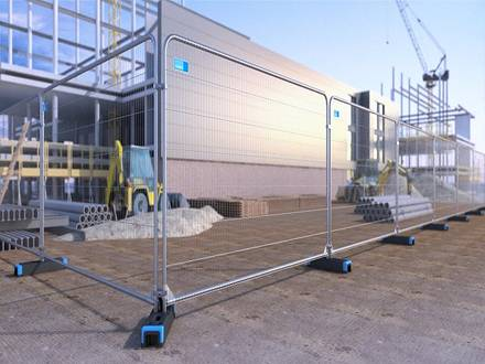 Heavy-Duty Round Top Anti-Climb Fencing Panels