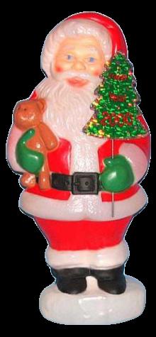 Santa With Teddy (Year 2000 Sign) photo