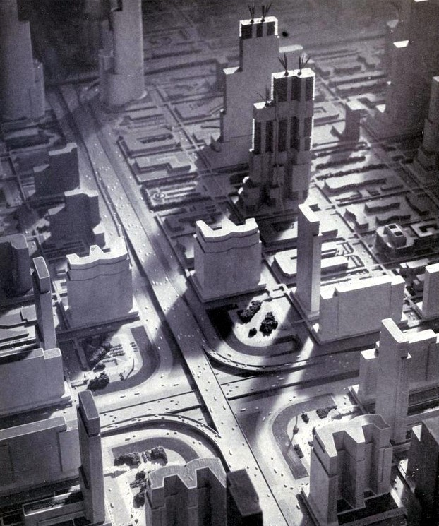 Birds eye view of Futurama, 1939