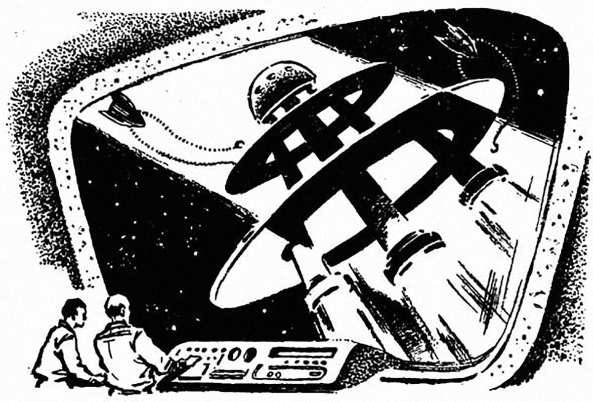 Иллюстрация Юрия Макарова к роману Аркадия и Бориса Стругацких «Полдень, XXII век»