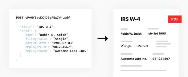 JSON to PDF
