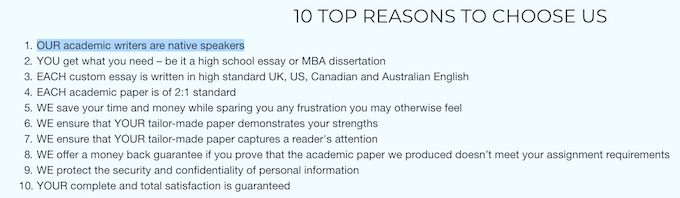 10 reasons to choose masterpapers.com