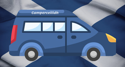 The logo for Camperceilidh which I designed