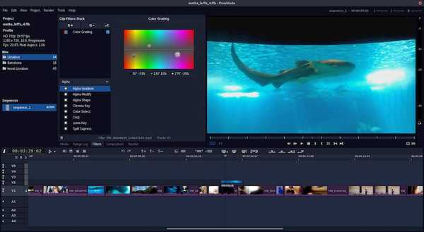 Flowblade open source video editor