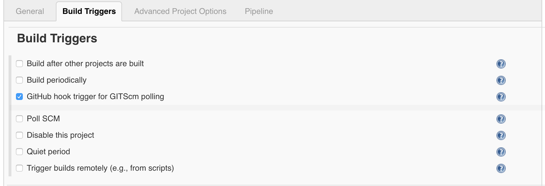 This feature enables builds after post-receive hooks in your GitHub repositories