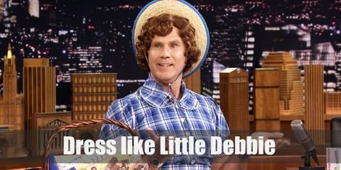 Little Debbie's smile looks as sweet as the Swiss rolls she sells. If you want to look like Little Debbie, it's easy! You can complete her getup by just adding a light blue checkered skirt, a lacy white half-body apron, and black Mary Janes. Here's everything you need to look like Little Debbie.