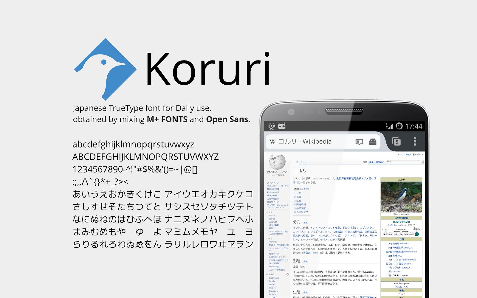 Koruri、誕生日おめでとう![LOVEFONT]