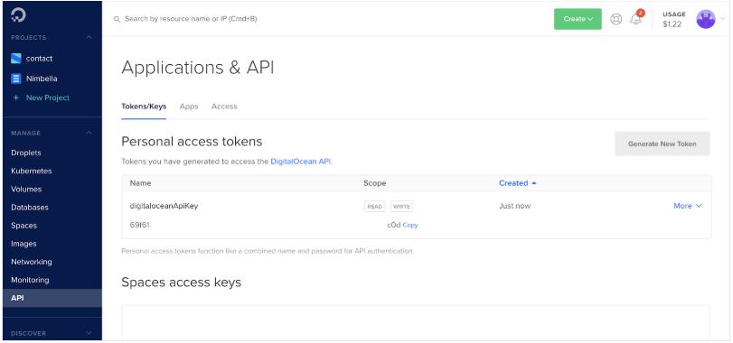 DigitalOcean API for displaying DigitalOcean bill in Slack