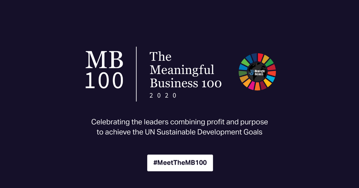 The Meaningful Business 100 2020 Celebrating The leaders combining profit and purpose to achieve the UN Sustainable Development Goals