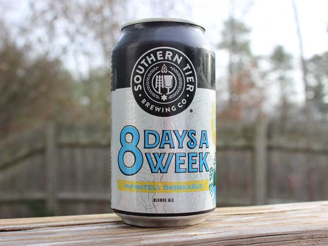 8 Days a Week, a Blonde Ale brewed by Southern Tier Brewing Company
