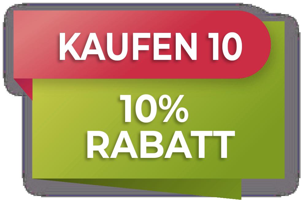 PROMOTION  '10 Stück kaufen und 10% sparen'