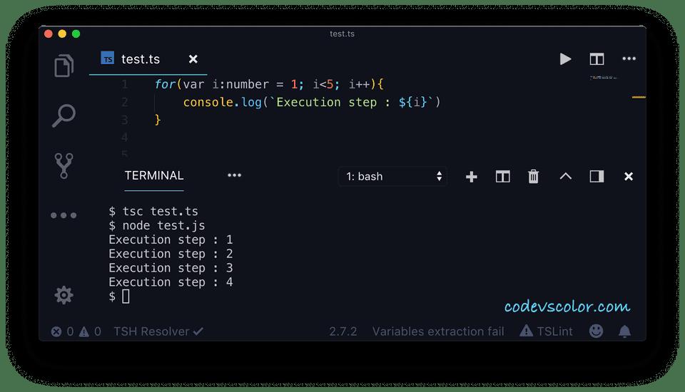 TypeScript for example