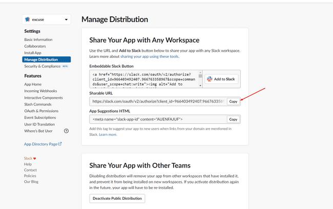 Slack app manage distribution