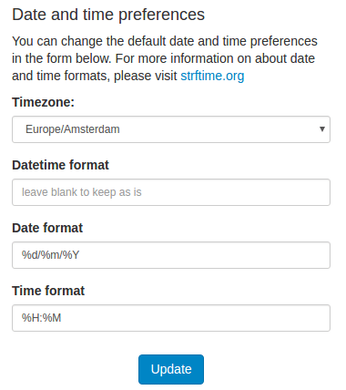 Adjust your Date and Time preferences in your Profile