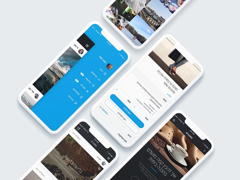 עיצוב אתרים - עבודות לדוגמא