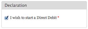 Direct Debit screenshot