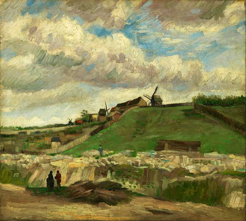 The hill of Montmartre with stone quarry' by Vincent Van Gogh, 1886, Van Gogh Museum Amsterdam