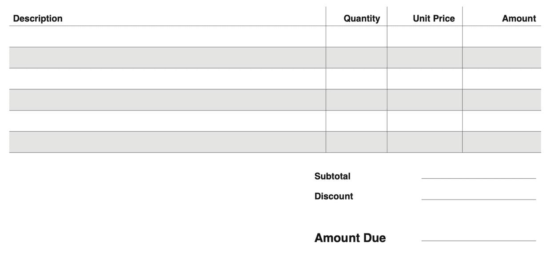 invoice pdf lines