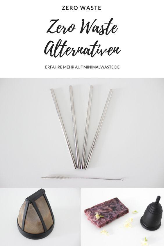 Pinterest Cover zu '8 alltägliche Dinge für die es Zero Waste Alternativen gibt'