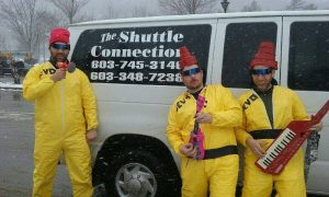 Pants, Fizz, and Huff (Devo) takes The Shuttle Connection to Loon Mountain