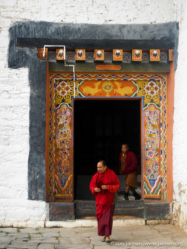 Jakar Dzong - a major monastery in Bumthang