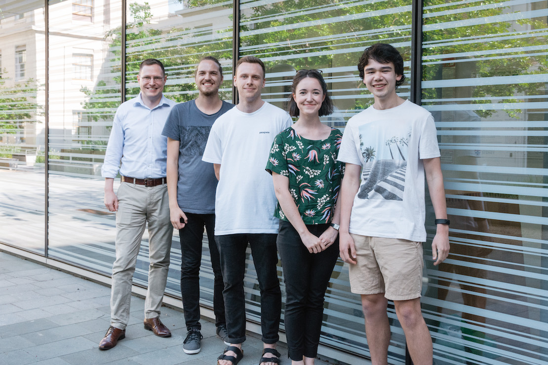 Group in 2019: Ivan, Stefano, Daniel, Clare, Jacob