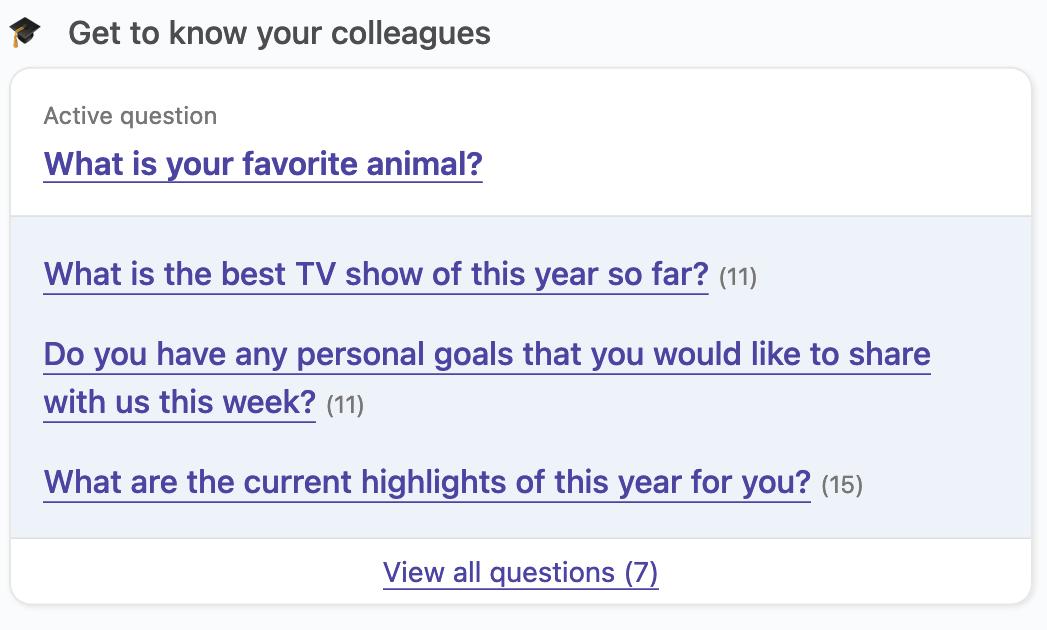 company questions