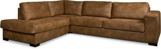 Isofa Dito Hoekbank Leer Cognac 9200000074103892_1 59 cm