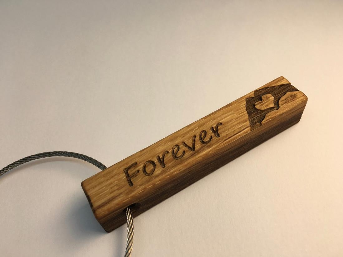 Hochzeitsanhänger. Sag es mit Holz.