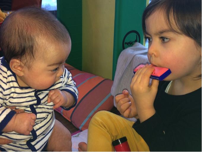 Developmental Delay Premature Babies Brother Plays Music