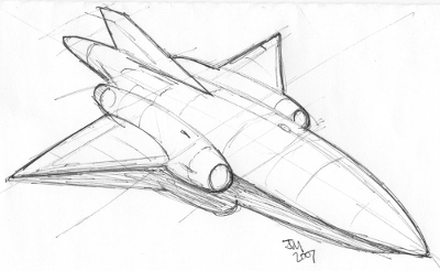 Rocket Ship Sketch