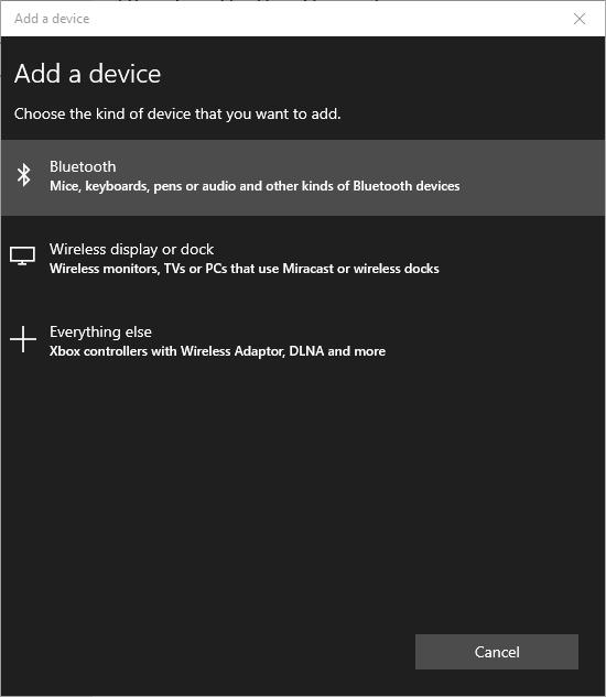 Select Bluetooth