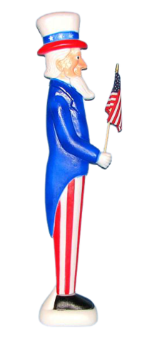 Uncle Sam with Flag photo
