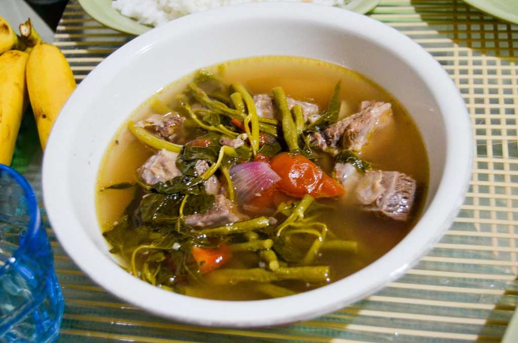 Beef sinigang with kangkong