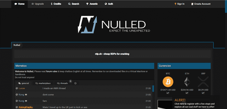 nulled screenshot