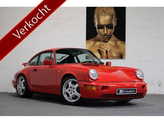 Porsche 911 964 Carrera 2 Historie bekend, Airco, Schuifdak, Leder interieur, Achterruitenwisser
