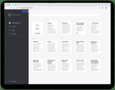 Screenshort of my personal desktop in Grammarly