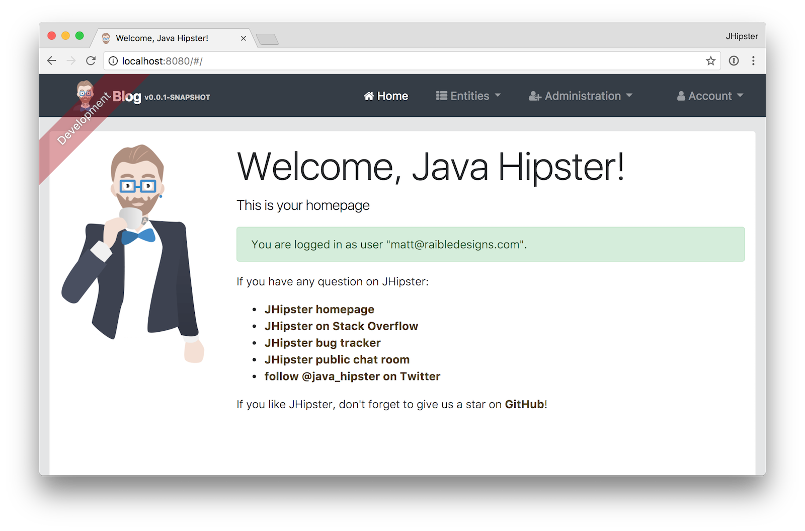 JHipster Authenticated