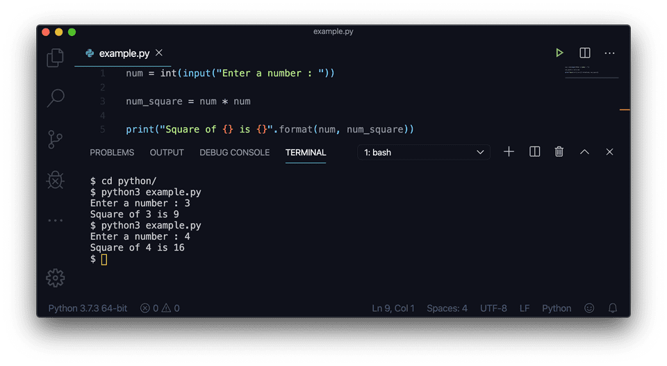 Python find square multiplication