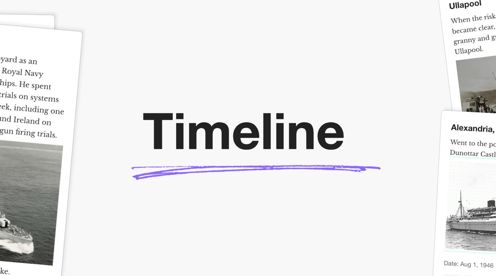 Timeline Family History App