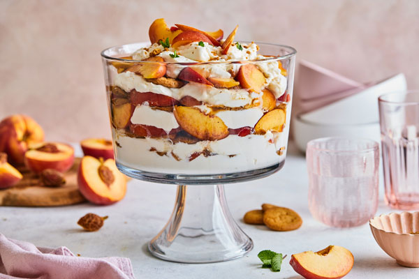 Ginger Bourbon Peach Icebox Cake