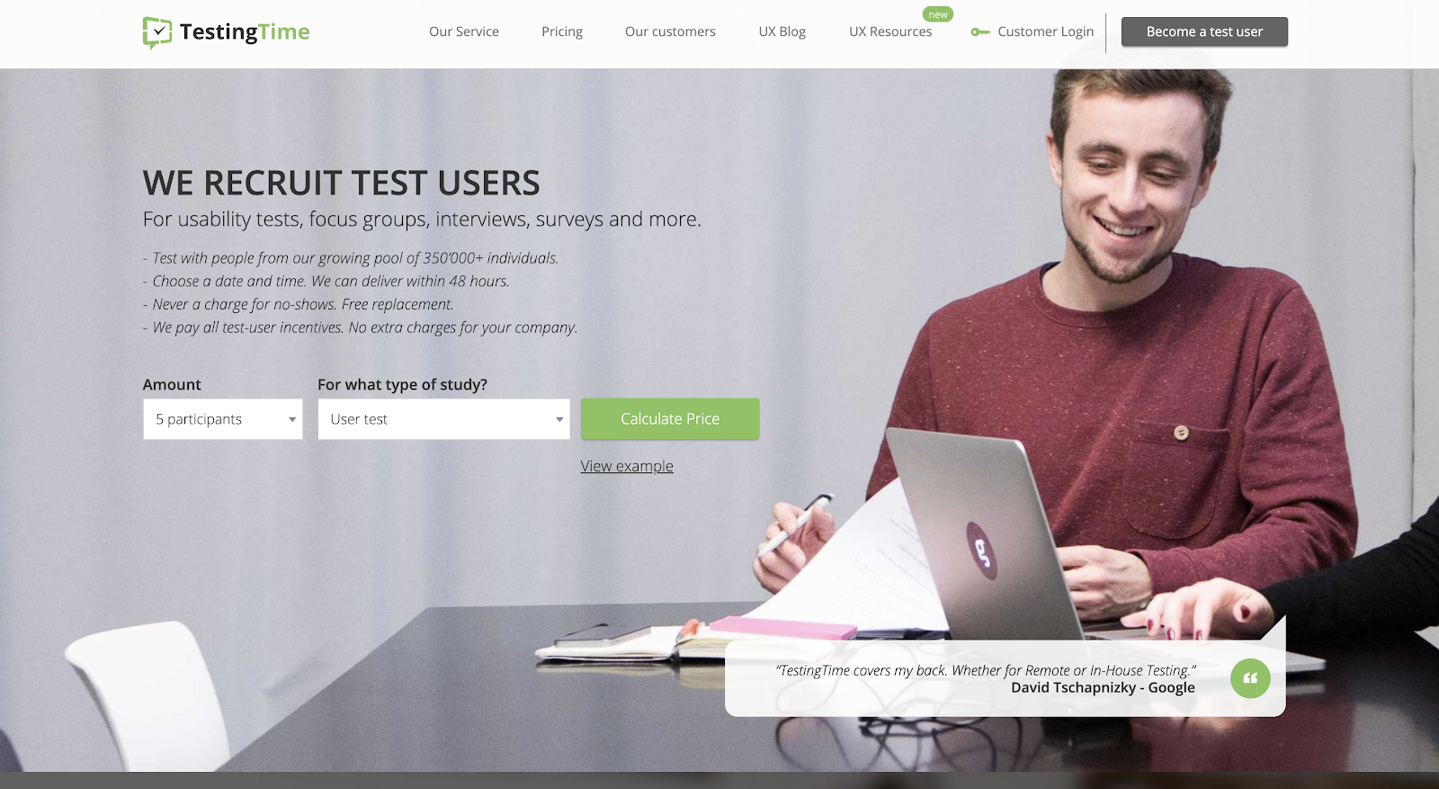 TestingTime as a UX research toolbox