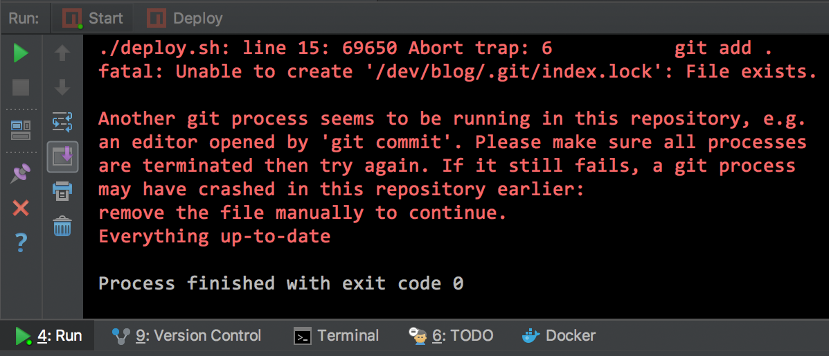 `'git/index.lock': File exists` Error regarding Git Submodules