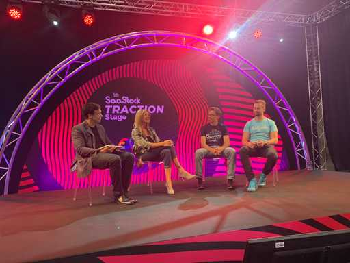 Panel at an event