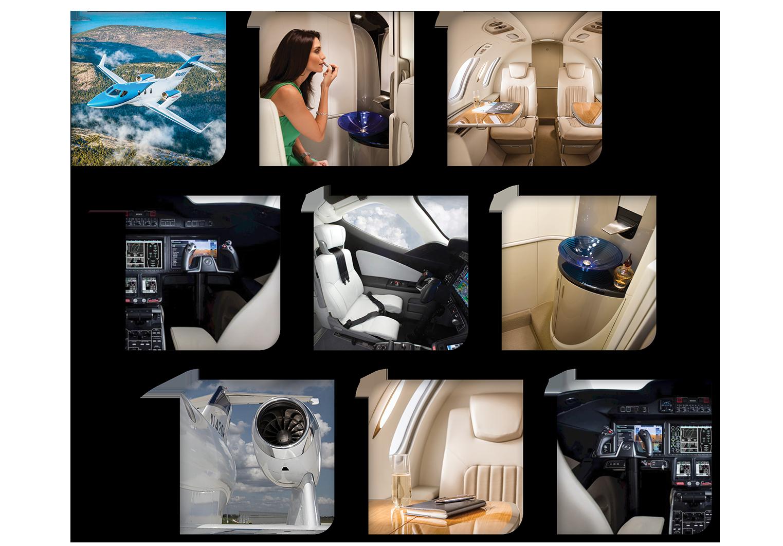montage of Hondajet images