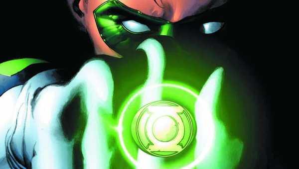 Hal Jordan, o Lanterna Verde na capa da HQ A Vingança dos Lanternas Verdes, uma das fases dos 80 anos do Lanterna Verde
