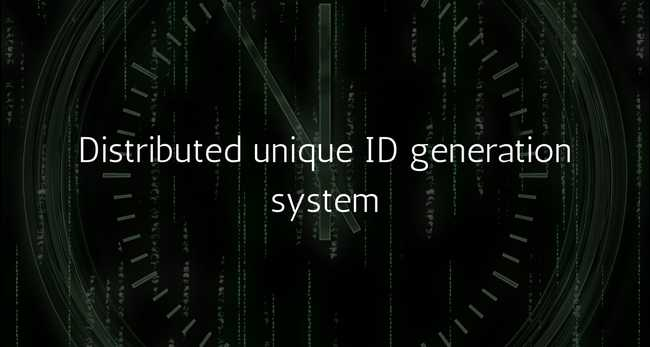 Generating unique IDs in a distributed environment at high scale.