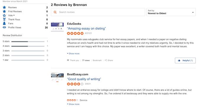 edugeeksclub.com makes fake reviews