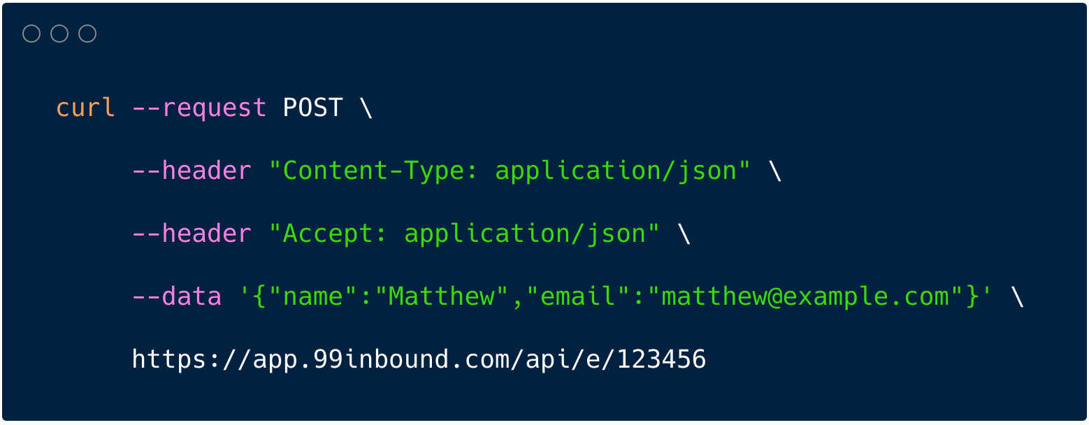 curl form endpoint api curl-screenshot